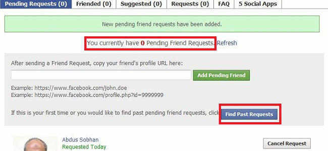 cancel pending request