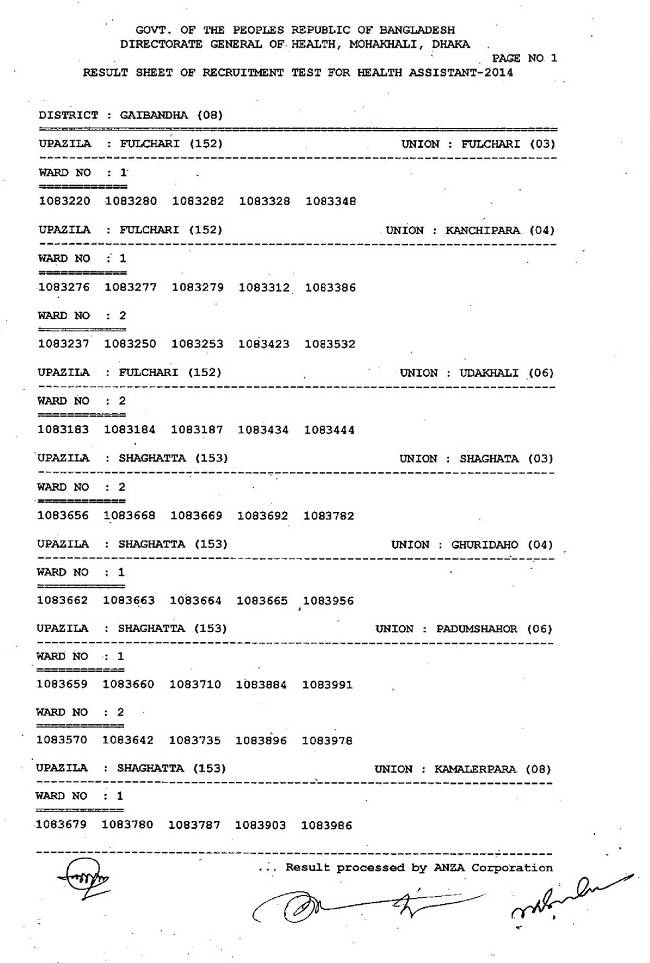 3rd class result