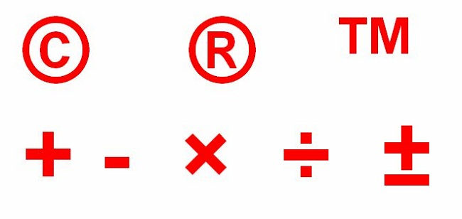 How to get multiplication sign, division sign or copyright sign of the Microsoft Word?